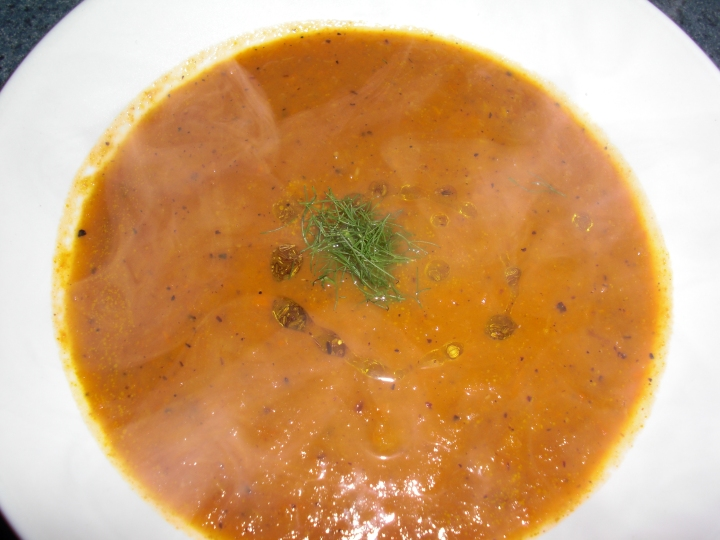 carrot fennel soup from Gourmet Nov. '08