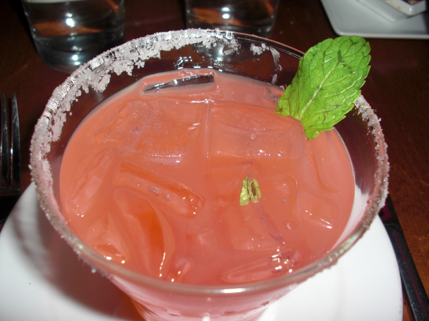 blood orange margarita with mint