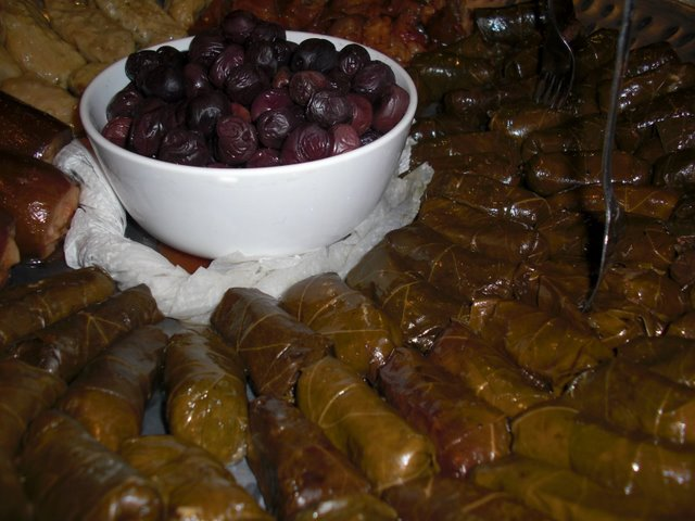 Stuffed Grape Leaves Platter