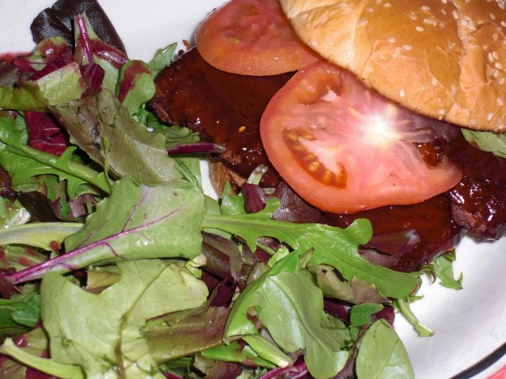 BBQ Vegan Riblet Sandwich