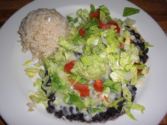 Black Bean Tostadas at Blind Faith