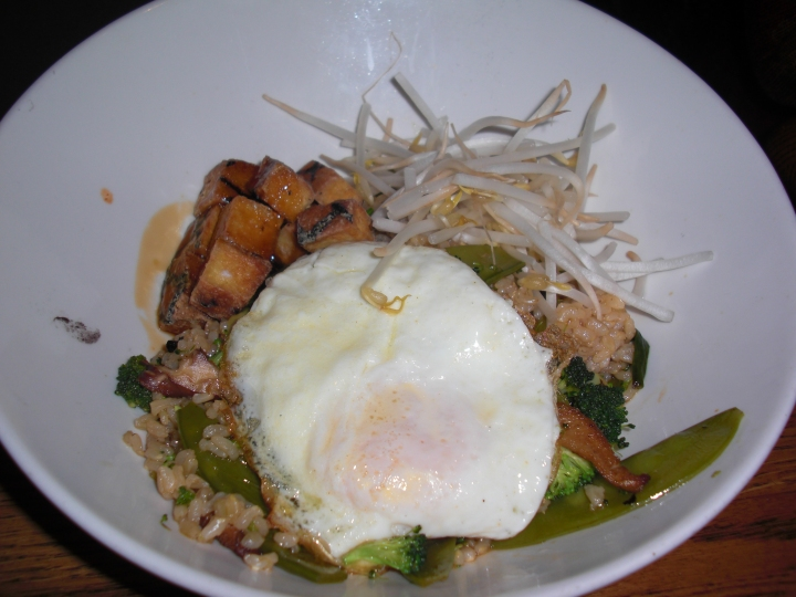 Tofu Vegetable Rice Bowl at Blind Faith