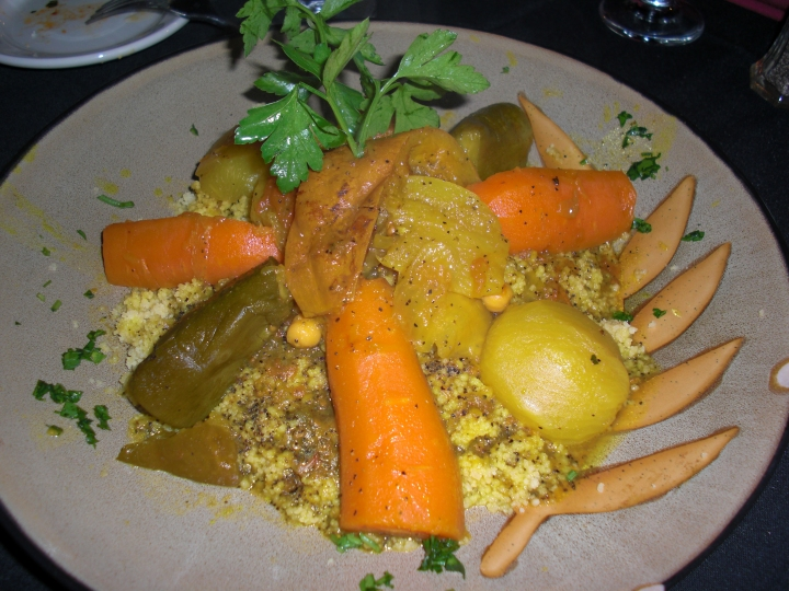 7 Vegetables and Couscous at La Brochette