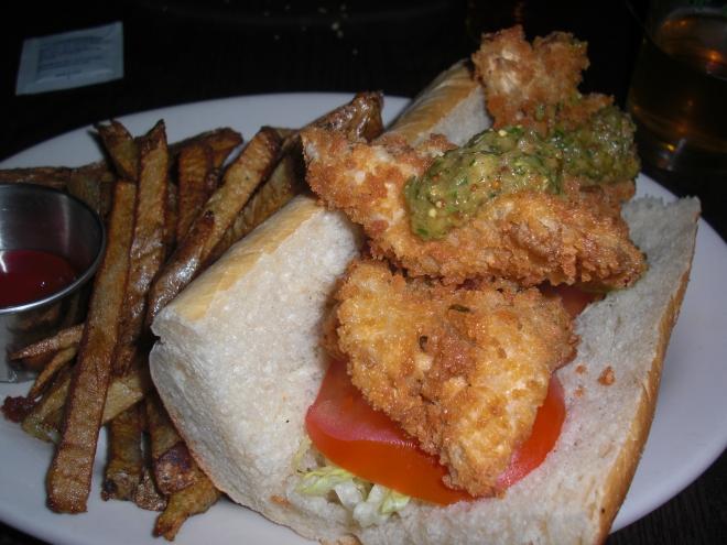 Oyster (Mushroom) 'Po Boy Sandwich