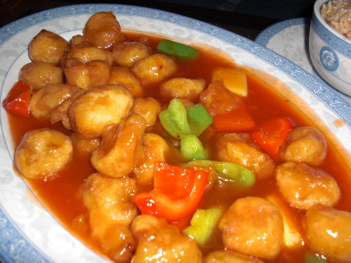Sweet and Sour Soy Nuggets