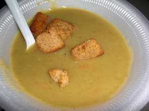 "Split Pea Soup with ""Ham"""