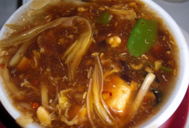 Hot and Sour Soup, no ham