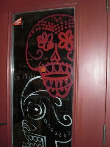 El Camino Real decorated door