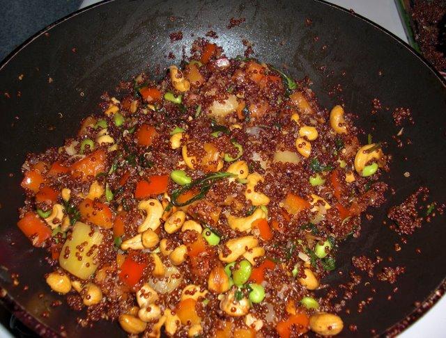 Frying in the wok