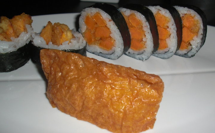 Sweet Potato Tempura Sushi at Zento