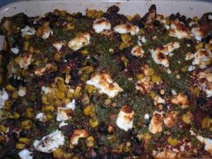 Roasted Poblanos, casserole-style
