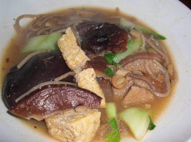 Shitake soba soup