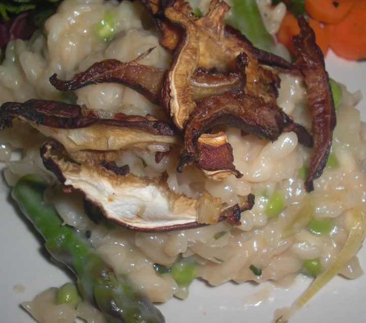 Spring Risotto with truffled shitake mushrooms