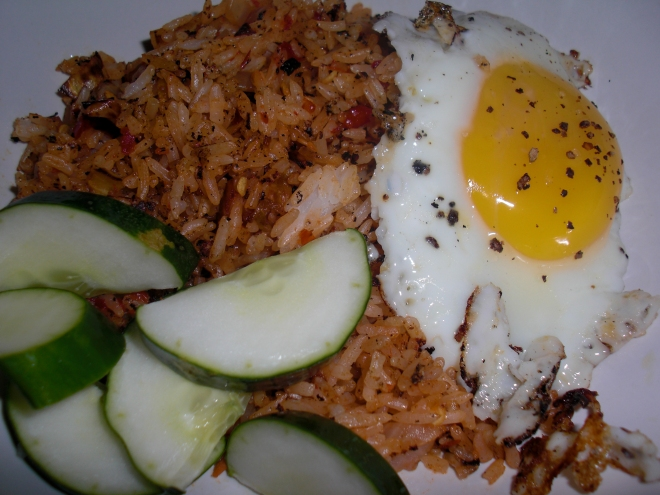 Indonesian Fried Rice Breakfast