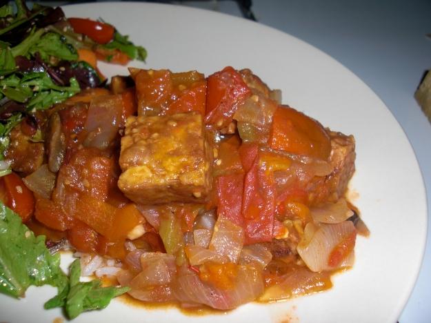 Spicy Tomato Tempeh