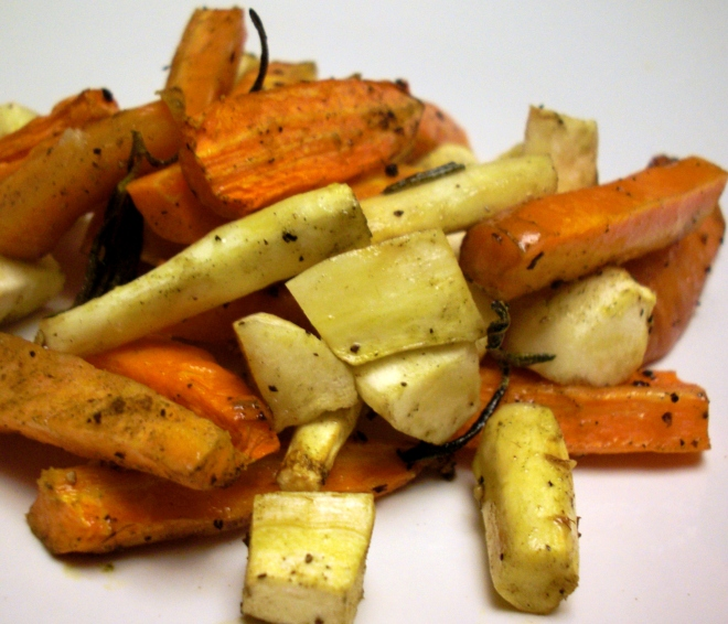 Roasted Carrots and Parsnips with Herbs