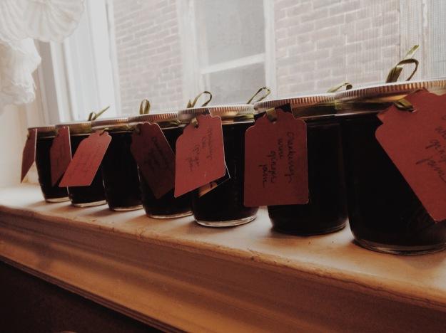 cranberry wine ginger jam